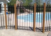 Alcatraz Fences & Decks Inc Metal Fence Around Pool